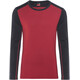 """Icebreaker M's Tech Top LS Crewe Oxblood/Midnight Navy"""